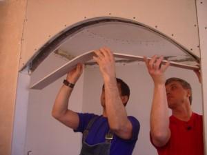 Как правильно сделать арку в дверном проеме?