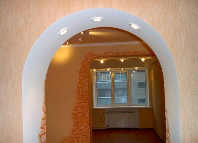 арка из гипсокартона 4