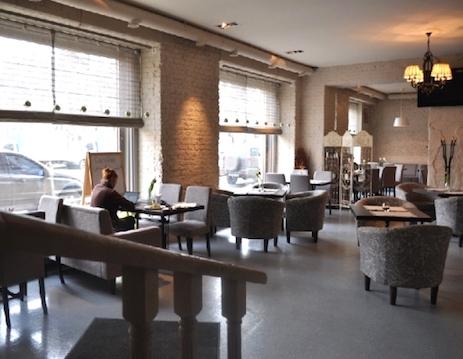 расстановка мебели в кафе