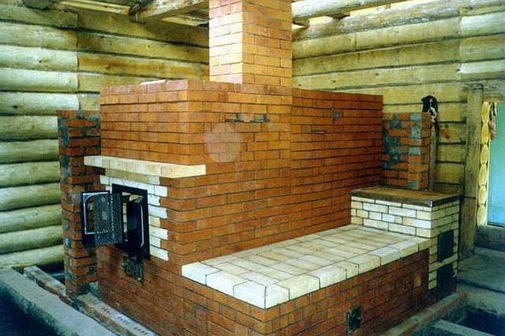 Каменная печь для бани - это классика
