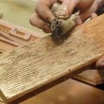 Состаривание деревянного пола